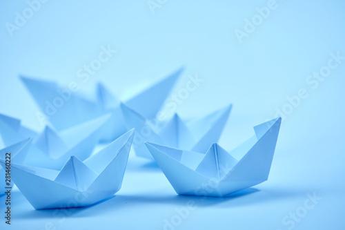 paper boats Billede på lærred