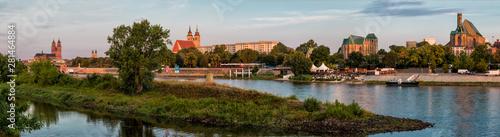 Elbpanorama Magdeburg Fototapete