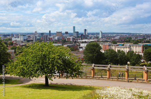 Fotografering An Aerial View of Liverpool, England, from Everton Park, UK, GB