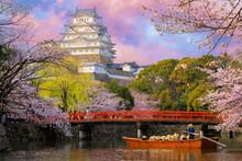 Himeji Castle At Sunset