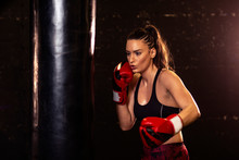 Strong Woman With Boxing Glove...