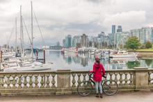 Vancouver Biking Woman Cyclist...