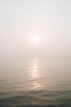 Sunrise Over Casco Bay Fog