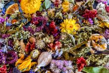 A Colorful Closeup Of Dried Fl...