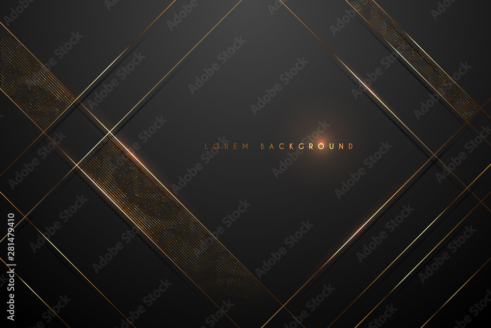 Fototapeta black and gold abstract background