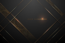 Black And Gold Abstract Backgr...