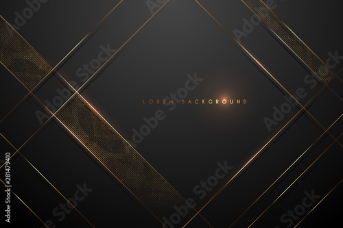 Carta da parati black and gold abstract background