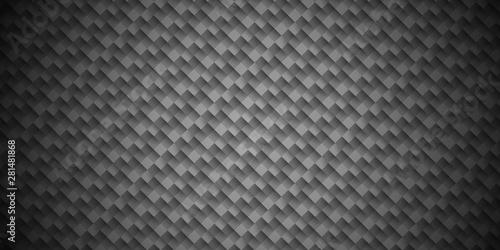 Fotobehang Leder Dark Gray Geometric grid background. Modern dark abstract texture