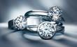 canvas print picture - Stillife mit 3 Diamantringen - Solitär