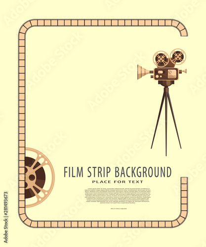 Retro style international movie festival poster template Canvas Print