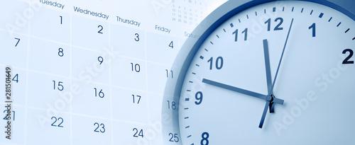 Obraz Clock and calendar - fototapety do salonu