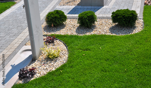 Spoed Fotobehang Tuin Design of landscaping in the garden, park, square, recreation area