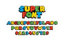 Super Font Vector Of Modern Ab...
