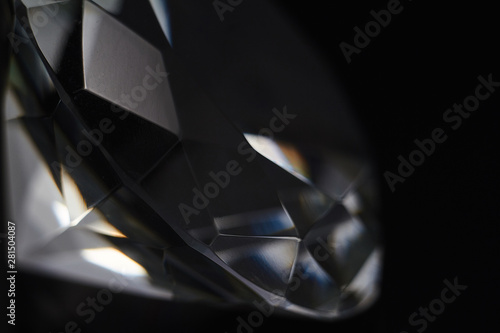 Huge diamond and several chic crystals on a gradient mirror surface, shimmer and Canvas Print