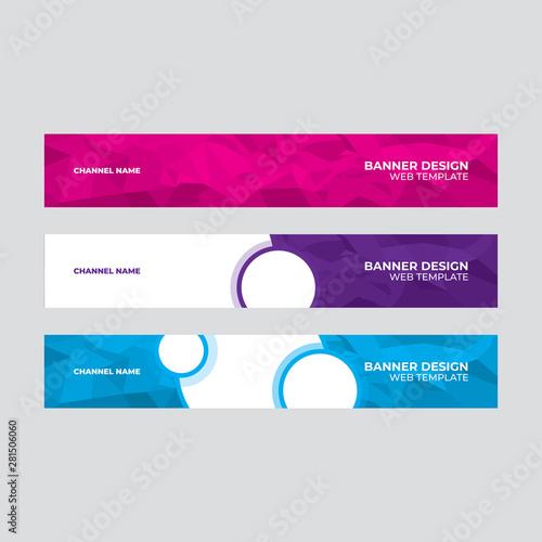 Fototapeta Web banner design, template header for site obraz