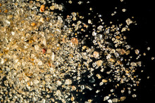 Closeup Of Sand Grains From La...