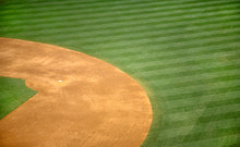 High Angle View Of Second Base...