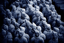 View Of Terracotta Army Sculptures