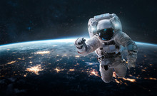 Astronaut In The Outer Space O...
