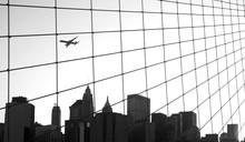 Skyline Of Manhattan Seen From Brooklyn Bridge