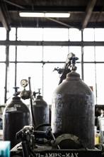 Oxyacetylene Gas Welding Tanks In Factory