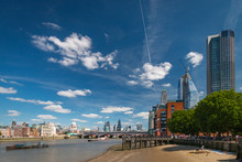 Cityscape Of London, United Kingdom Seen From Southbank