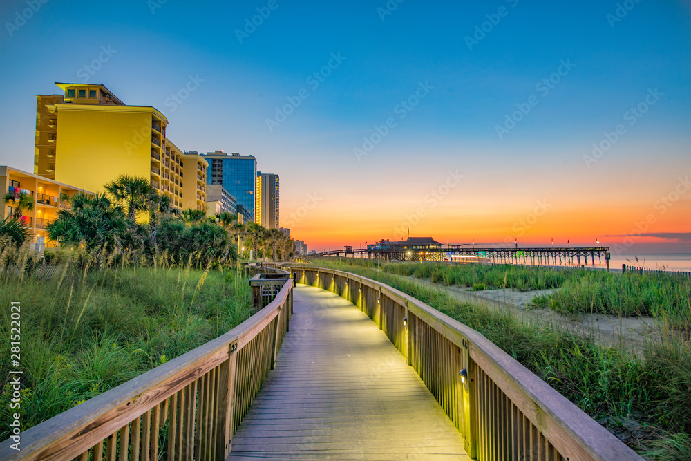Fototapety, obrazy: Myrtle Beach South Carolina SC Sunrise
