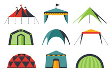 Set Of Various Designs Of Tent...
