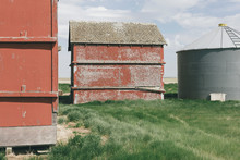 View Of Barn And Silo On Farml...