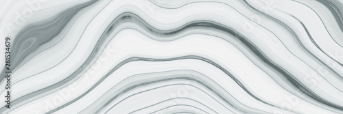 Fotobehang Fractal waves Marble ink colorful. Black marble pattern texture abstract background. can be used for background or wallpaper