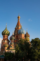 Fototapeta na wymiar Moscow, Russia summer day. View of the St. Basil's Cathedral in Moscow on Red Square.