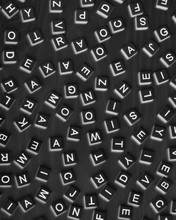 Overhead View Of Blocks Of Scattered Letters