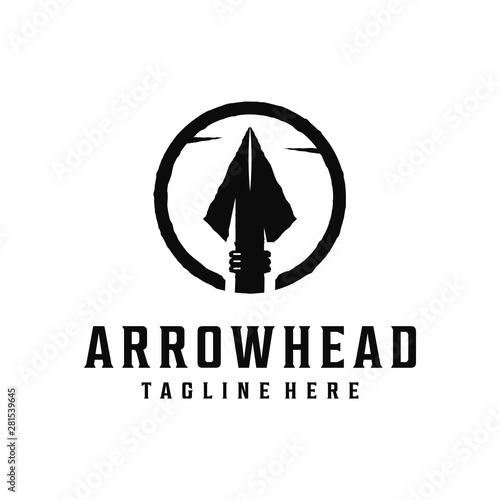 Spear, arrow / arrowhead vintage logo Canvas Print