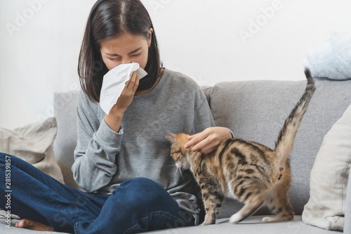Diseases from pets concept Canvas Print