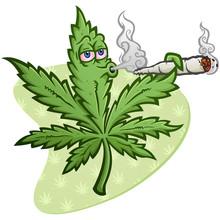 A Cheerful Marijuana Vector Ca...