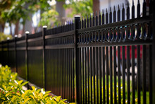 Black Aluminum Fence With Deco...