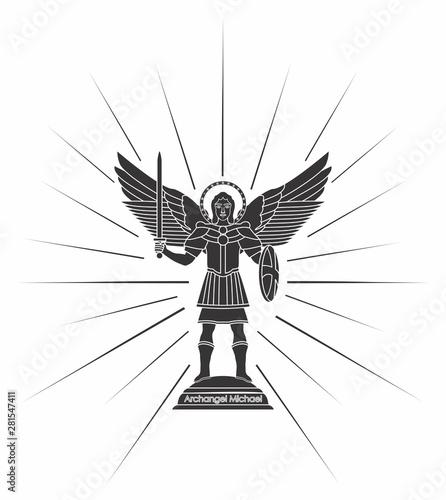 Archangel Michael. Christian symbol. Canvas Print