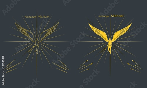 Fotografía Archangel Michael. Christian symbol.