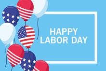 Happy Labor Day Card, USA Holiday
