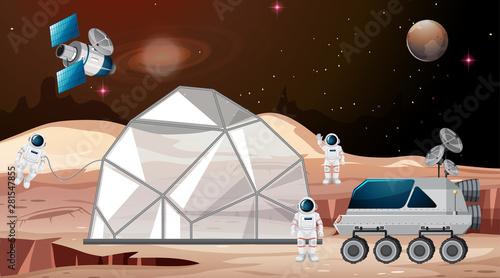 Space camp on mars scene