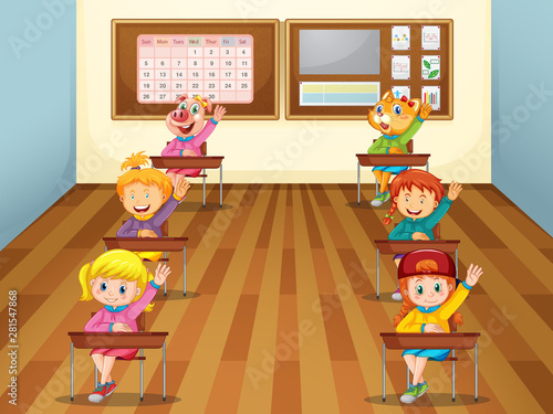 Kids in the classroom