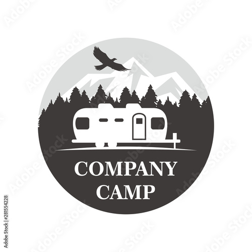 Air Stream Camp Logo Canvas Print