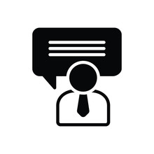 Black Solid Icon For Consulting