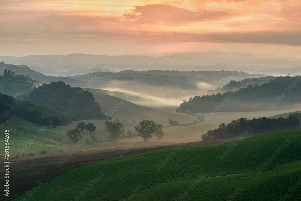 Beautiful Tuscan landscape, Pievina, Siena Province, tuscany, italy, europe