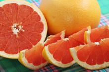 Bright Ripe Raw Pink Grapefruit