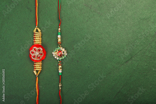 Traditional Indian Bracelet Calls Rakhi, Sister Ties On Brothers Wrist on the Oc Canvas Print