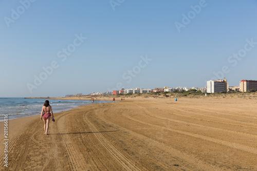 Costa Blanca beach walk from Guardamar del Segura to Torre la Mata Canvas Print