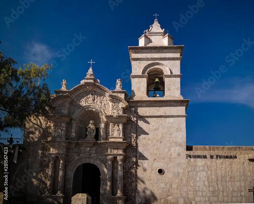 Exterior ciew to facade of Iglesia de San Juan Bautista de Yanahuara, Arequipa, Canvas Print