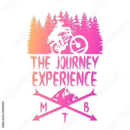 Fotografia Logo Mountain Bike Vector illustration