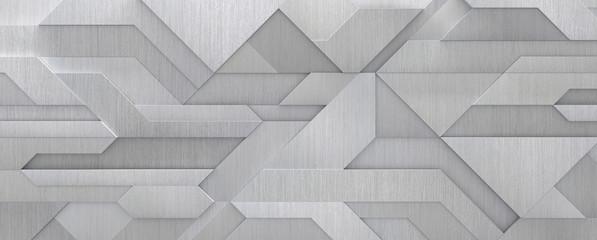 Hi-tech Style Metal Background (3D Illustration)
